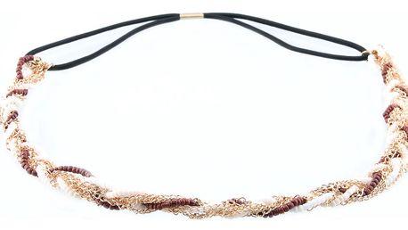 Čelenky do vlasů s korálky propletené barevné
