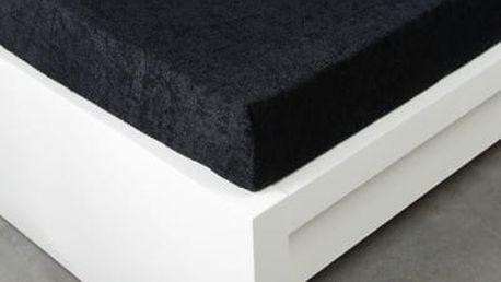XPOSE ® Froté prostěradlo Exclusive dvoulůžko - černá 200x200 cm