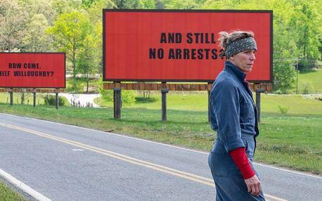Tři billboardy kousek za Ebbingem v kině Lucerna