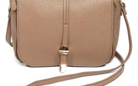 Béžová kožená kabelka Renata Corsi Ariela