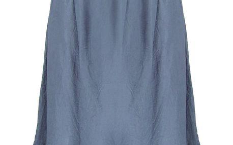 Dlouhé dámské letní šaty nad prsa s krajkové volánky 0805