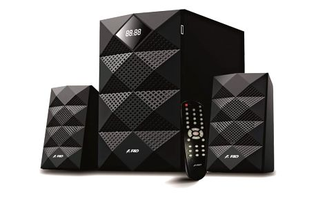 Reproduktory Fenda F&D A180X 2.1, bluetooth, rádio, USB, SD, dálkové ovládání (A180X) černé