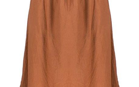 Dlouhé dámské letní šaty nad prsa s krajkové volánky 1108