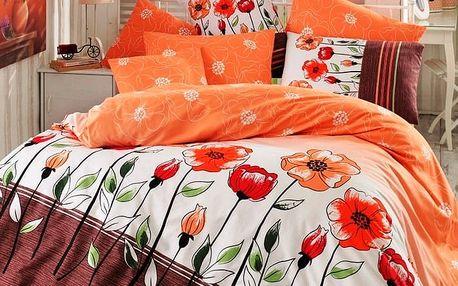 BedTex Bavlněné povlečení Amanda lososová, 140 x 200 cm, 70 x 90 cm, 140 x 200 cm, 70 x 90 cm