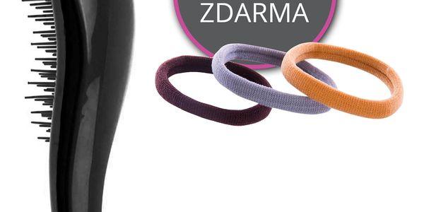 Fashion Icon AKCE designový vlasový kartáč s rukojetí + plastová pružinová gumička ZDARMA