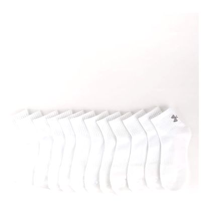 Ponožky Under Armour Charged Cotton 2 Quarter (6 Pack) Bílá
