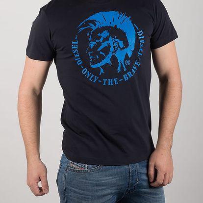 Tričko Diesel T - Head Ps Maglietta Modrá
