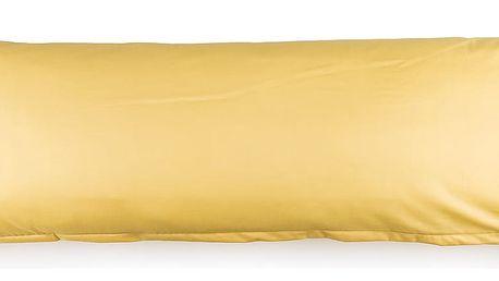 4Home povlak na Relaxační polštář Náhradní manžel žlutá, 50 x 150 cm