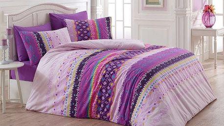 Night in Colors Francouzské bavlněné povlečení MELANIE - lila 200X220, 70x90