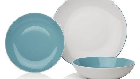 12dílná modrobílá sada nádobí z porcelánu Sabichi Duck Egg