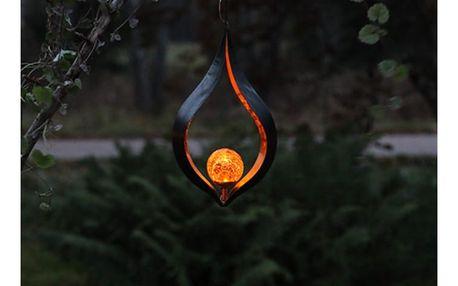 Solarní závěsná světelná LED dekorace Best Season Melila Red