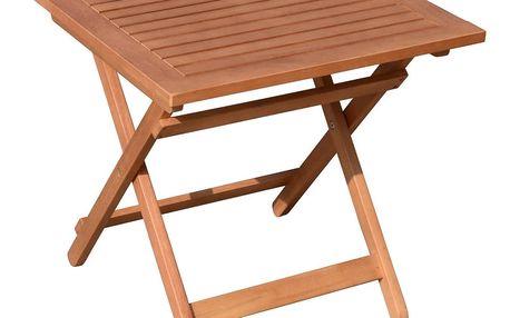 Zahradní skládací odkládací stolek z eukalyptového dřeva ADDU Berea