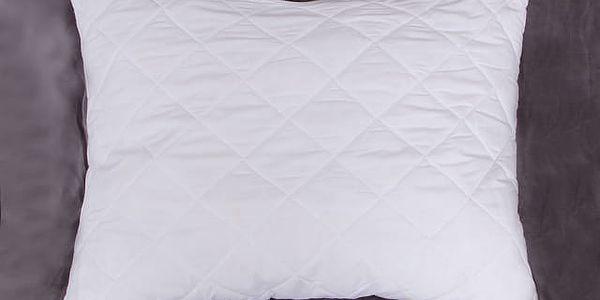 Prošívaný polštář na zip 70x90 cm