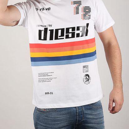 Tričko Diesel T - Joe-Ob Maglietta Bílá