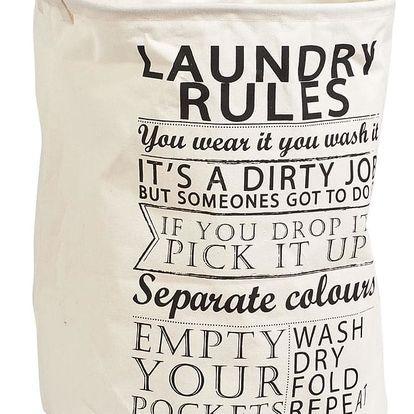 Koš na prádlo Laundry Rules, 38x48 cm, 54 l, ZELLER