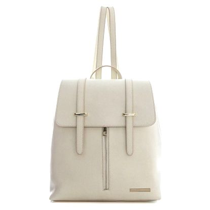 Béžový kožený batoh Sofia Cardoni Backon