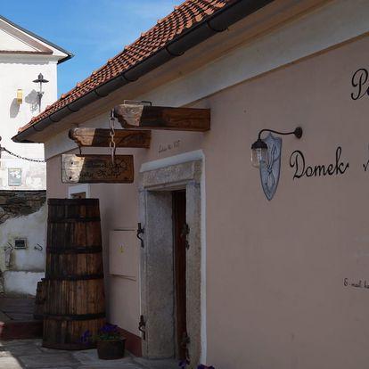 Domek kata Matěje v centru Českého Krumlova s výhledem na zámek