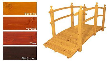 Gaboni 55343 Zahradní dřevěný most - s povrchovou úpravou - 248 cm