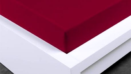 XPOSE ® Jersey prostěradlo Exclusive dvoulůžko - bordó 160x200 cm