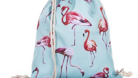Fashion Icon Sportovní vak flamingo Plameňák modrý