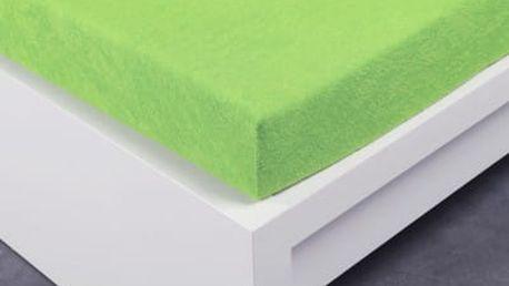 XPOSE ® Froté prostěradlo Exclusive dvoulůžko - letní zelená 160x200 cm