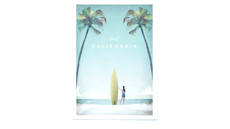 Plakát Travelposter California, A2
