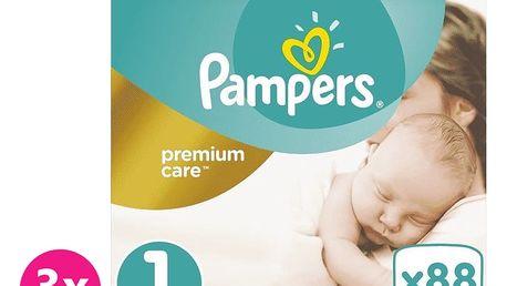 PAMPERS Premium Care 1 NEWBORN 264 ks (2-5 kg) MĚSÍČNÍ BALENÍ – jednorázové pleny