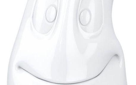 Bílá usměvavá konvice z porcelánu 58products, objem 1200 ml - doprava zdarma!