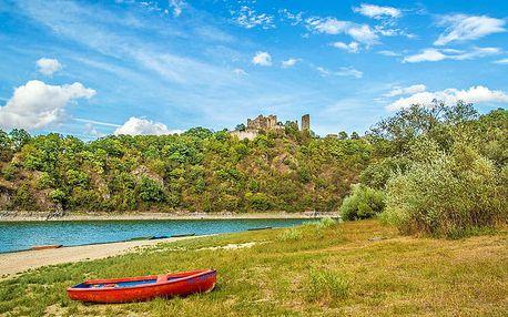 Jižní Morava v apartmánu pro 4 osoby na břehu Vranovské přehrady s vínem a půjčením loďky