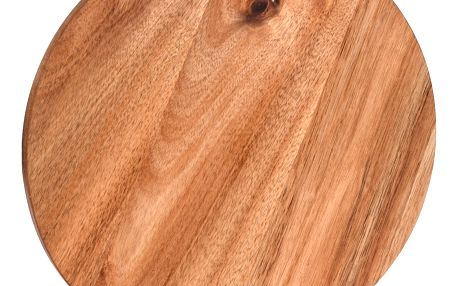 EH Excellent Houseware Kuchyňská deska pro krájení - kruhové, akátové dřevo,