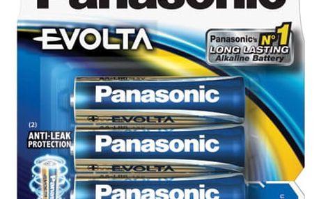 Baterie alkalická Panasonic AA, LR6, Evolta, blistr 4ks