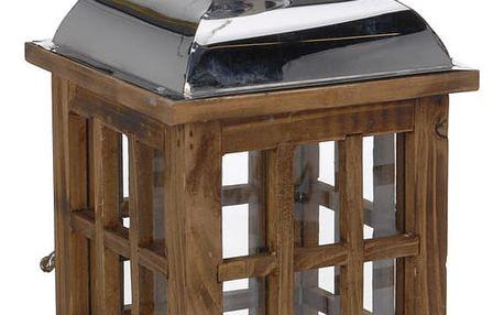 Home Styling Collection Dřevěná lucerna SVÍTILNA