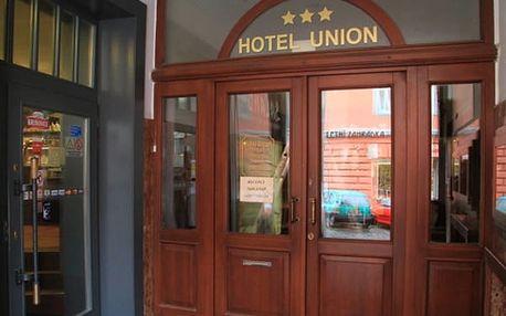 Pobyt pro dvě osoby a 1 dítě do 12 let zdarma v romantickém hotelu Union na 3 nebo 5 dní.
