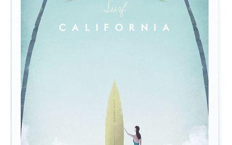Plakát Travelposter California, A2