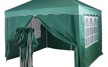 Tuin 36868 Zahradní párty stan nůžkový 3x3 m + 4 boční stěny - zelená