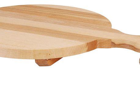 Dřevěné krájecí prkénko - kuchyňské, kruhové s rukojetí EH Excellent Houseware