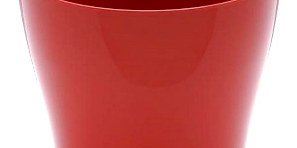 Obal na květiny LUNA, červená, Plastia, 22 cm