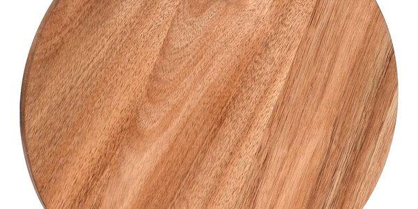 EH Excellent Houseware Kuchyňská deska pro krájení, kruhové, akátové dřevo