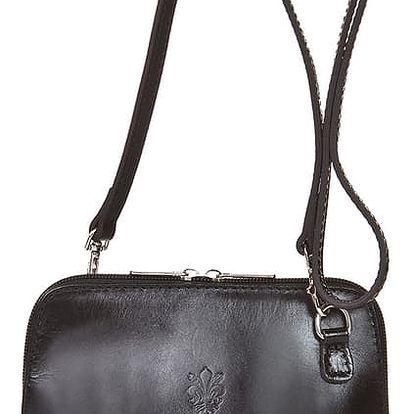 Černá kožená kabelka Grey Labelz Jacintha