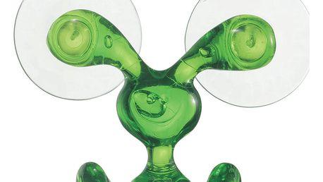 Věšák na ručníky BUNNY, dvojitý - barva zelená, KOZIOL