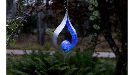 Solarní závěsná světelná LED dekorace vhodná do exteriéru Best Season Melila Blue