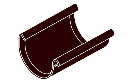 Spojka žlabu RG 75 půlkulatá hnědá barva