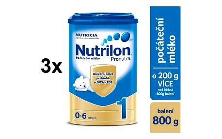 Nutrilon 1 Pronutra, 800g x 3ks