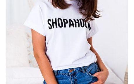 Dámské tričko s nápisem Shopaholic