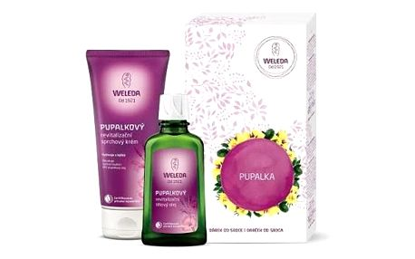Weleda Pupalkový revitalizační sprchový krém 200 ml + Pupalkový revitalizační tělový olej 100 ml dárková sada