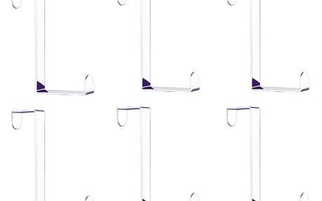 Věšáky, háčky na dveře - 6 kusů v sadě, WENKO