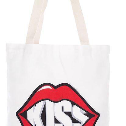 Fashion Icon Módní textilní taška Kiss bavlněná
