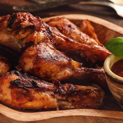 Vynikající kuřecí křídla a stehna u Švejka ve Strašnicích až pro 4