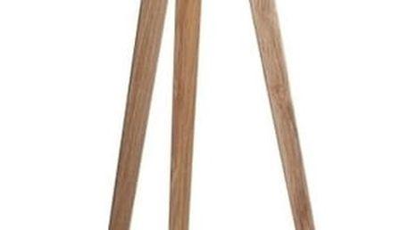 Černá lampa s dřevěnými nohami Zuiver Tripod Wood
