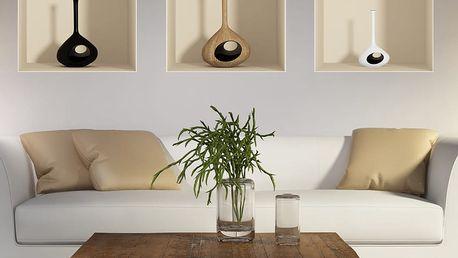 Sada 3 samolepek s 3D efektem Ambiance Vase
